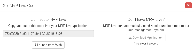 Get MRP Live Code